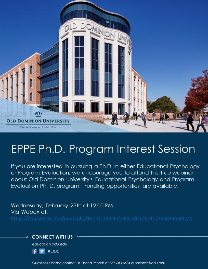 EPPE Ph.D. Program Interest Session